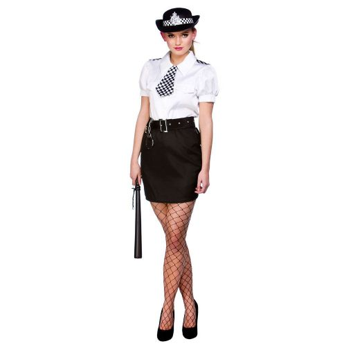 Ladies Constable Cutie Costume British Bobby Cop Policeman Police Fancy Dress